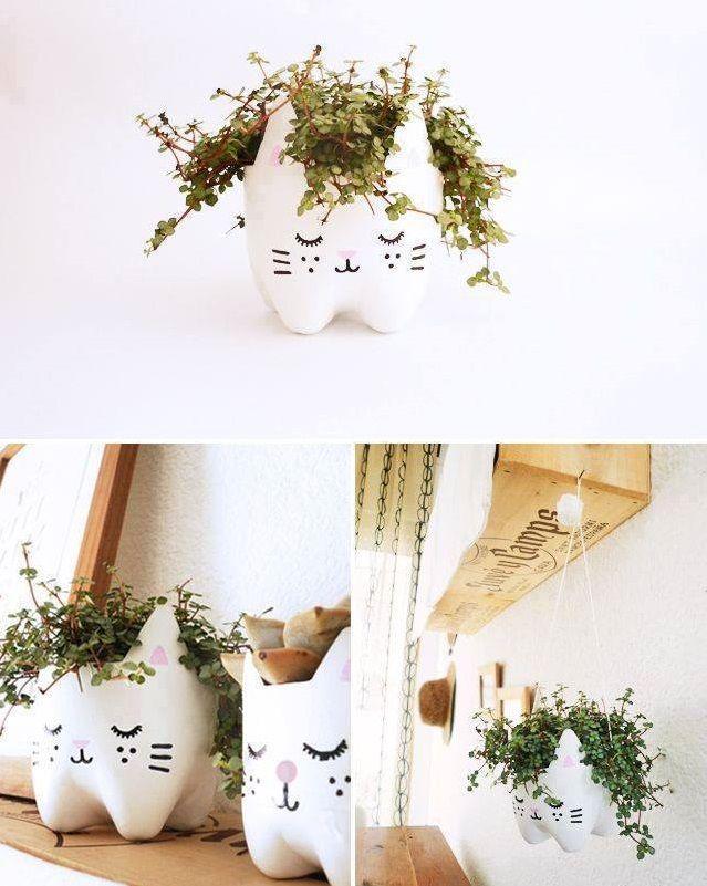 Kedi Şekilli Saksı Yapımı - http://m-visible.com/kedi-sekilli-saksi-yapimi.html