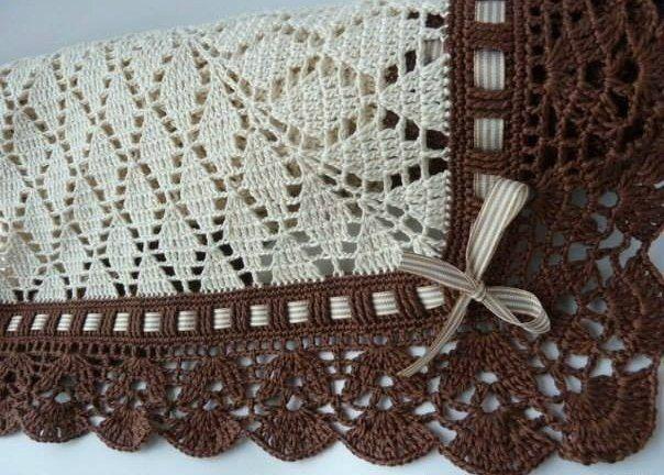 Плед с красивым узором крючком   Вязание для всей семьи