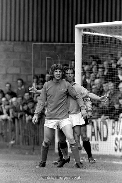 10th June 1972. Discarded by Manchester City, Stan Bowles re-built his career at Carlisle United, via Crewe Alex. Bowles is action in a 4-1 win over Catanzaro in the Anglo-Italian Cup.