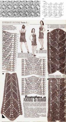 Длинная юбка крючком. Схема для красивой юбки крючком | Домоводство для всей семьи
