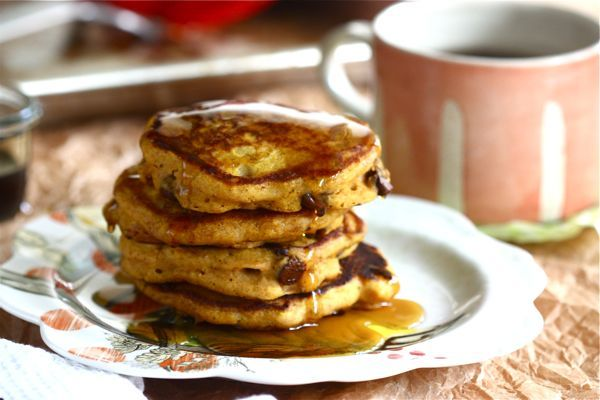 pumpkin chocolate chip pancakes: Health Food, Breakfast Healthy, Chocolates Cakes, Pumpkin Pancakes, Healthy Breakfast, Pumpkin Chocolates Chips, Decor Cookies, Cozy Kitchens, Chocolates Chips Pancakes