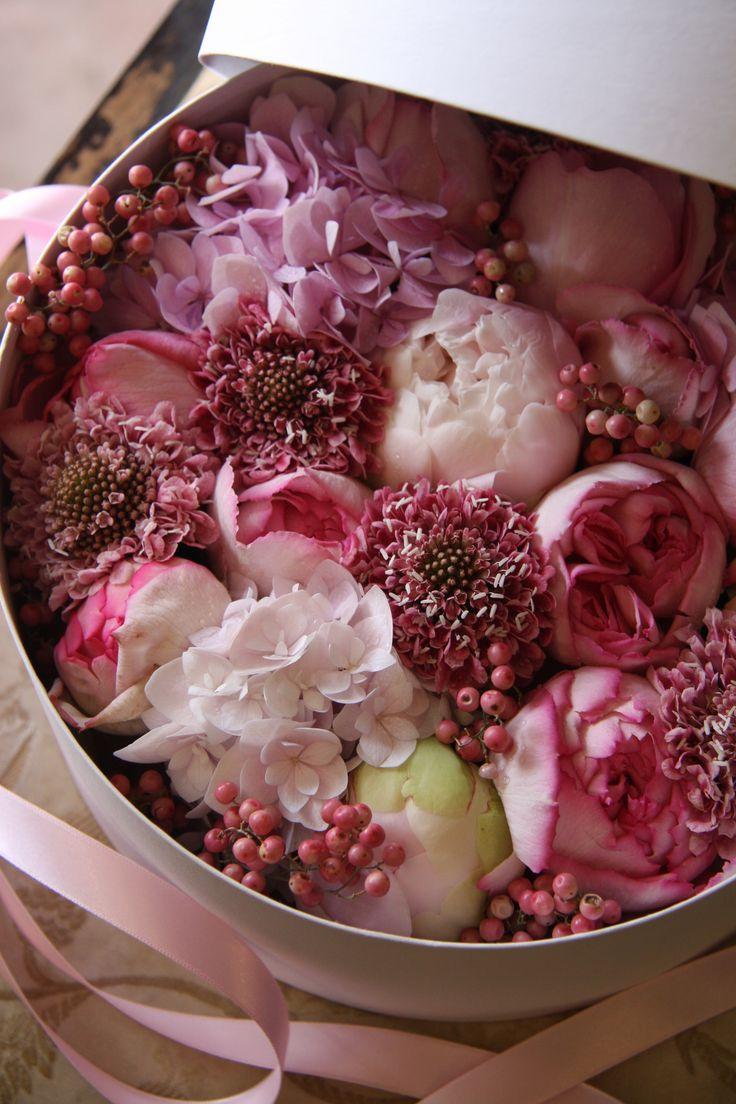 boxed flower bouquet ....♥♥