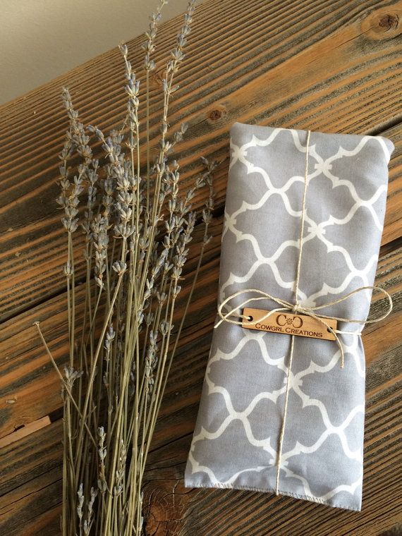 Dried Lavender Eye Pillow with Flax Seed by Cowgrlcreations