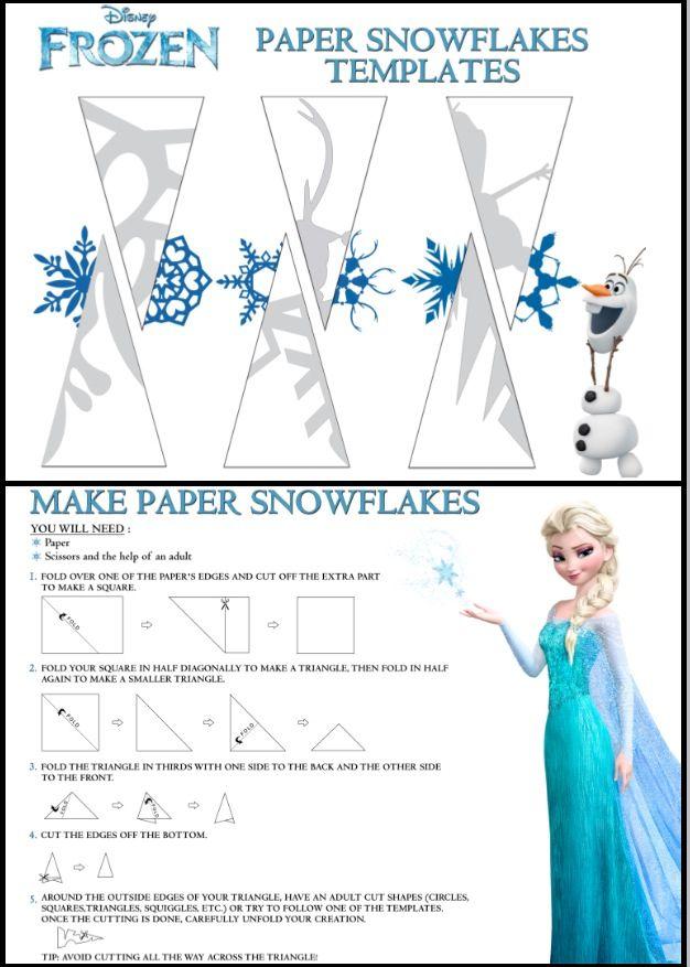 Disney Frozen snowflake templates...i love making snowflakes