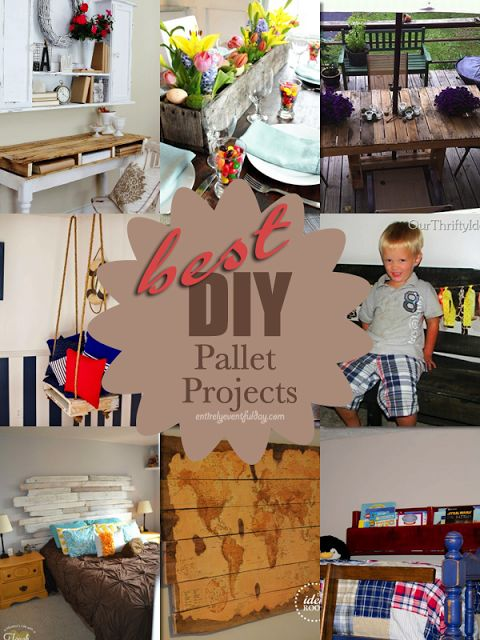 Entirely Eventful Day: Best DIY Pallet Projects #pallet #DIY