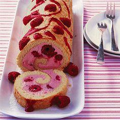 Himbeer-Biskuitrolle... Lecker :)