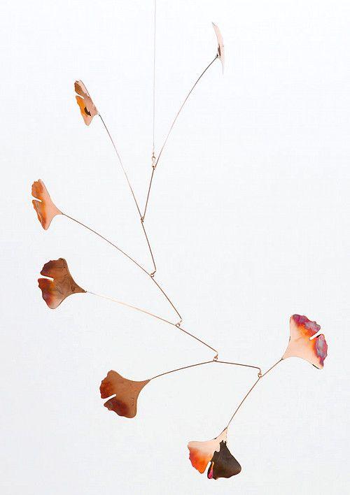Copper Gingko Mobile by Terrain.