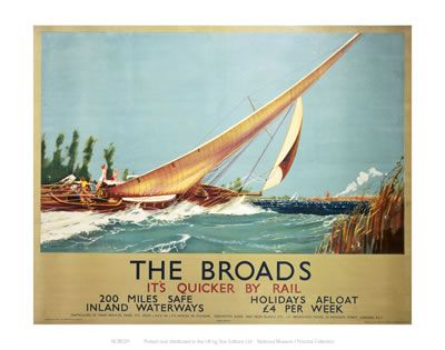 #Broads #Vintage #Rail #Railway #Train #Poster #Posters #Prints #Print #Art #UK #Britain #British #Old #Travel #Norfolk www.vintagerailposters.co.uk