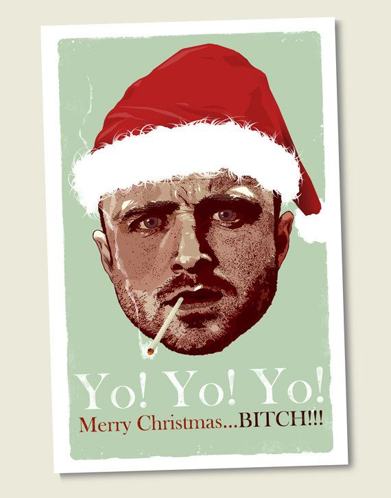 I need these Christmas Cards!!! Breaking Bad Jesse Pinkman 5 1/2 by bigbadrobot, $4.50