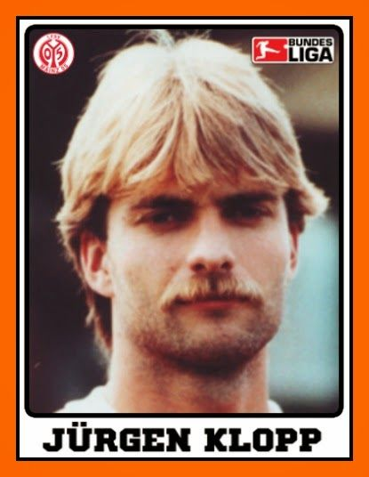 Klopp as a player at the beginning of his career.