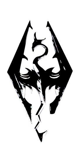 Skyrim Tattoo Stencil: Skyrim Logo Tattoo Design Dragon By Emoncher