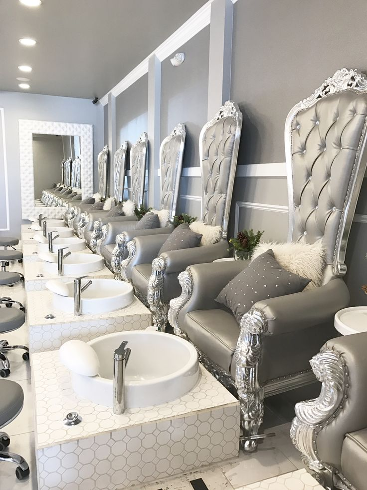 Nail salon design | Nail salon decor | Pinterest | Salons, Nail ...