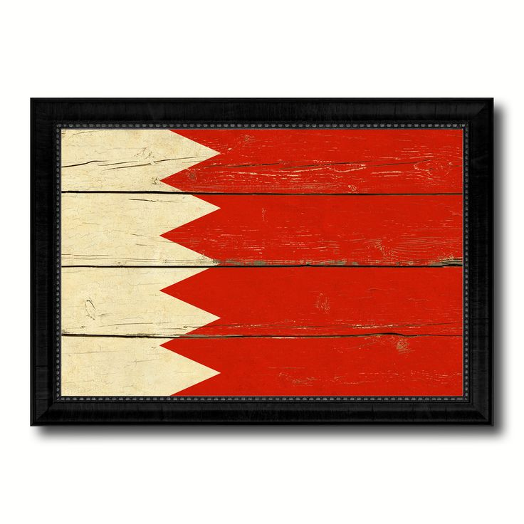 Bahrain Country Flag Vintage Canvas Print with Black Picture Frame Home Decor Gifts Wall Art Decoration Artwork