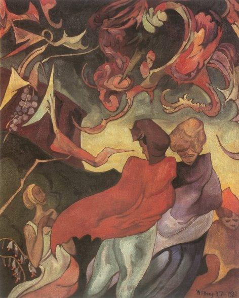 Stanisław Ignacy Witkiewicz - WitKacy (1885-1939) - Kompozycja z postaciami kobiecymi, 1917-20.