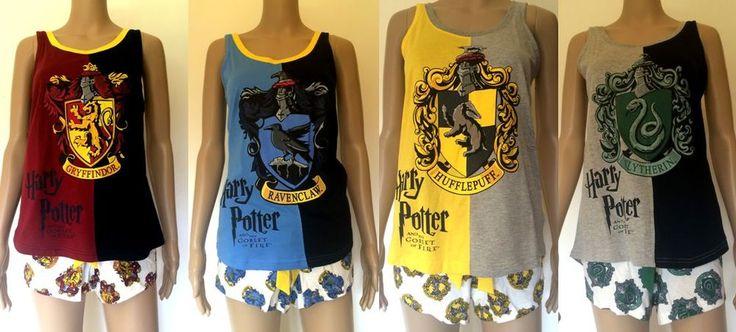 Harry Potter Women's Pyjamas Goblet of Fire Primark Shorts Tshirt Gryffindor in Collectables, Fantasy/ Myth/ Magic, Harry Potter | eBay