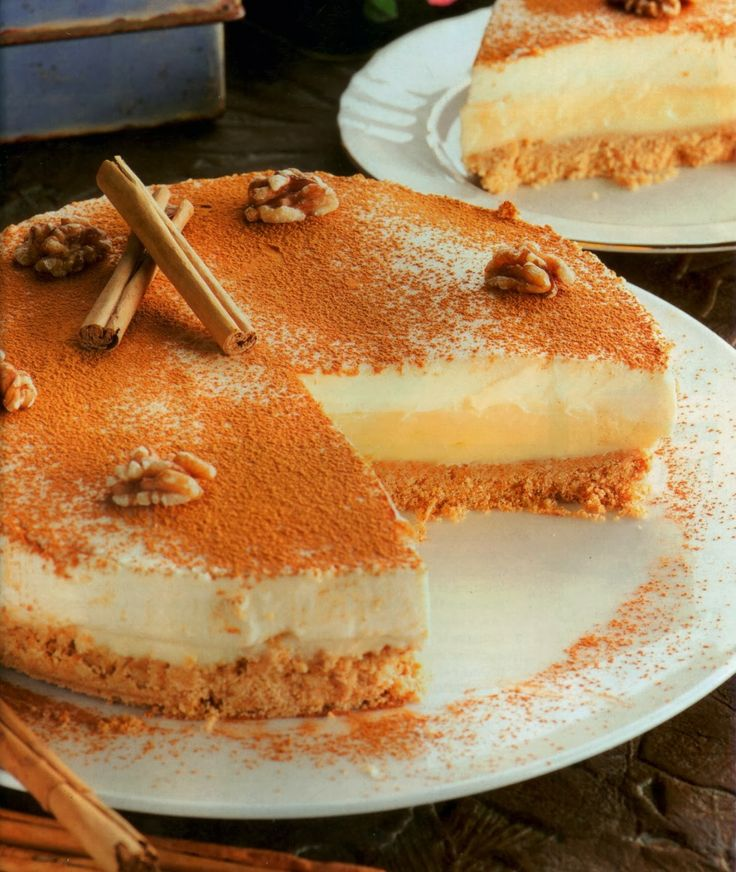Varomeando: Pastel de queso y crema pastelera a la canela