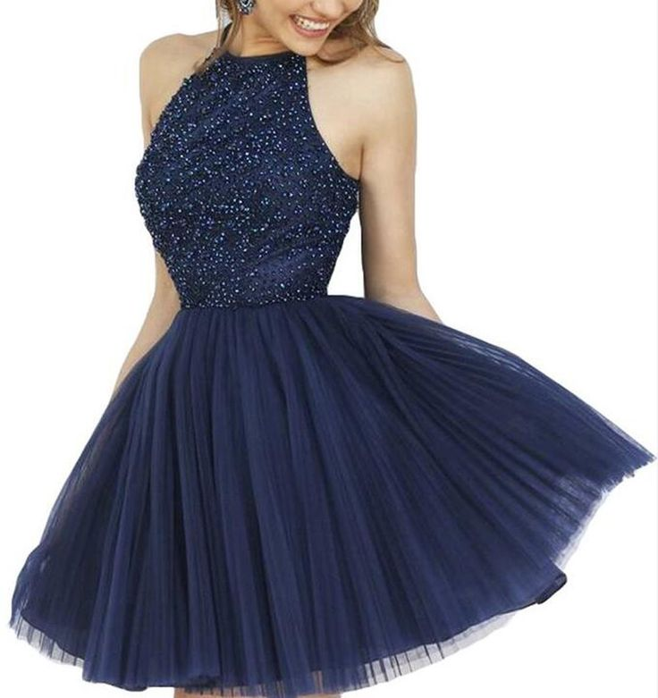 AIJIAYI Women's Beading Keyhole Back Short Tulle Homecoming Dresses Prom Gowns Navy US6. Fabric:Tulle with Beading and Sequins. Silhouette:A Line, Scoop, Keyhole Back, Sleeveless. Custom made process (from the date we receive your payment and measurements) will take about 1-2 weeks.The the delivery time is about 10 days. the total time is about 25 days. Notice:Before order, Please refer to OUR Size Chart and measuring guide at the LEFT. Suitable for prom, ball, wedding, evening party...