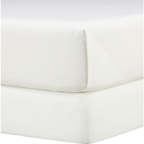 Matelasse King Box Spring Cover in Mattress Pads & Covers | Crate and Barrel