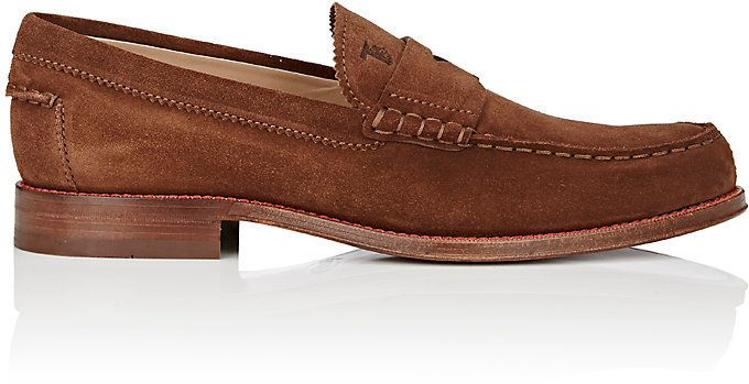 Tod's MEN'S SUEDE LOAFERS