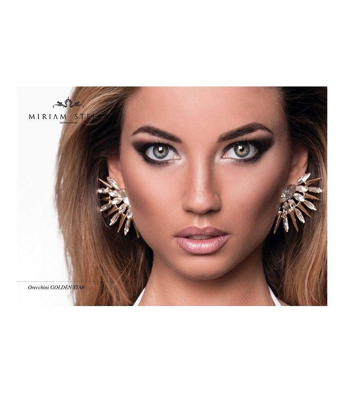 Miriam Stella Fashion Jewelry - Orecchini Star #miriamstella #fashionblogger #moda #fashion #madeinitaly #fashionjewelry #jewelry #jewels #earrings #star #model #gold #crystals