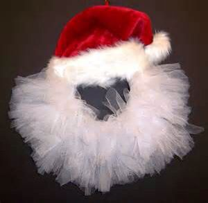 Santa wreath I like this idea