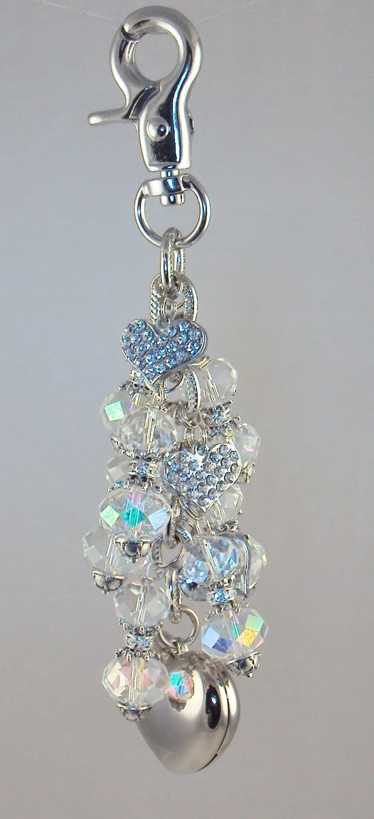 Diva Dangles LLC - Charmed LED Purse Light With Rhinestone Hearts, $24.99 (http://www.divadangles.com/charmed-led-purse-light-with-rhinestone-hearts/)