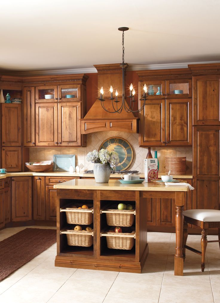 Great kitchen cabinets open baskets in the island a for Open kitchen island with seating