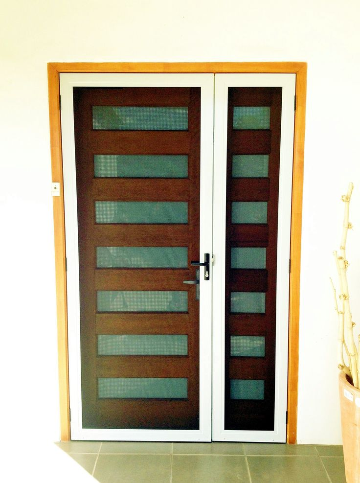Entry Door with fixed panel after fitting Ulltimate Stainless Security Door
