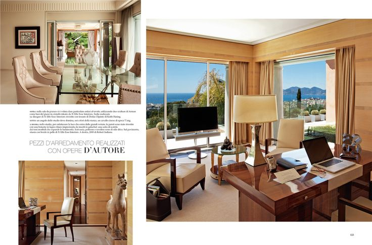 #TiEffeEsse on #ADItalia June 2014 | A house on the French Riviera | Furniture made with artwork.