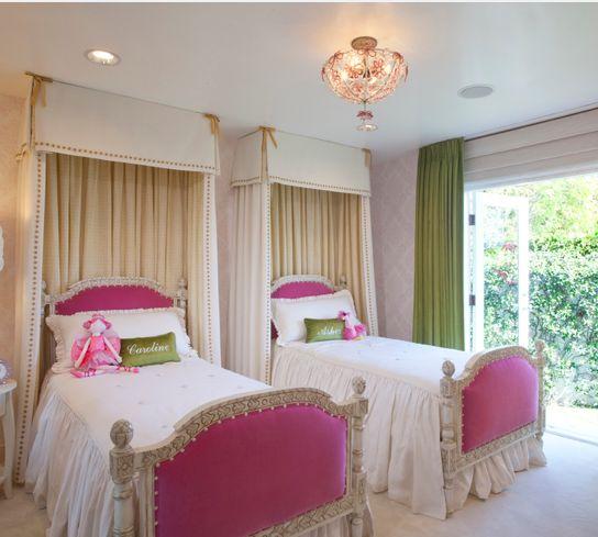 twin girls bedroom haute pink pinterest