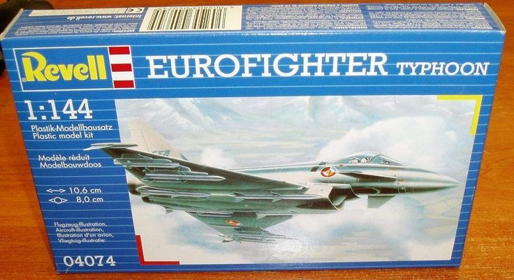 Revell Eurofighter Plastic Model Kit 04074 Typhoon Modern Military Aircraft