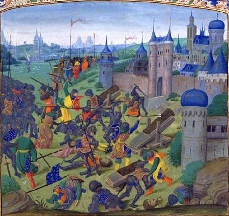 25 September 1396 > Battle of Nicopolis - Crusaders Besieging ...