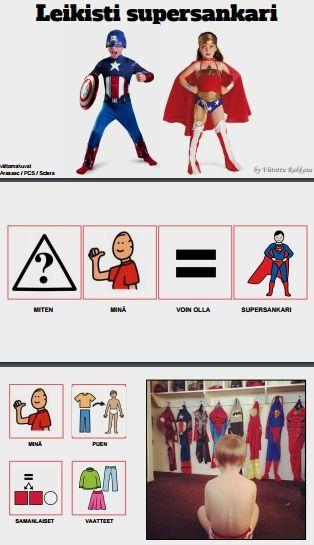 Sadunomaisessa oppimistarinassa pohditaan miten ollaan supersankari ja mitä supersankarit tekevät?