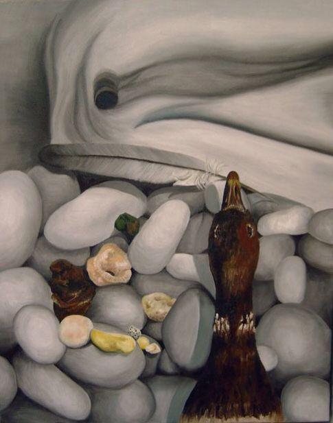 In den beginne...II olieverf schilderij In the beginning...II oil painting