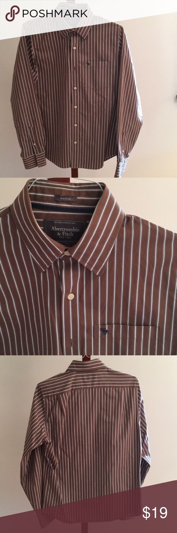 Abercrombie men's long sleeves shirt 100% cotton... in excellent condition Abercrombie & Fitch Shirts Casual Button Down Shirts