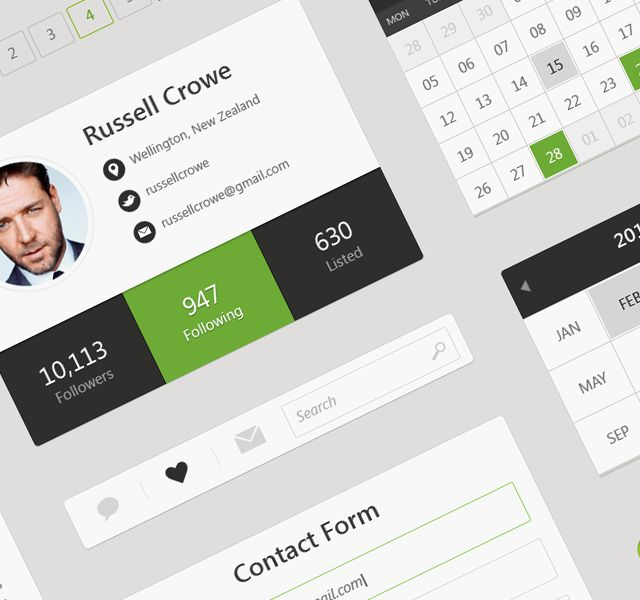 Flat Web & UI Kit - work in progress