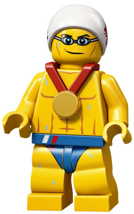 The Stealth Swimmer Team GB Olympic Minifigures All Minifigure packets will be opened to guarantee the correct Minifigure – Comes complete with opened packets leaflet and accessories