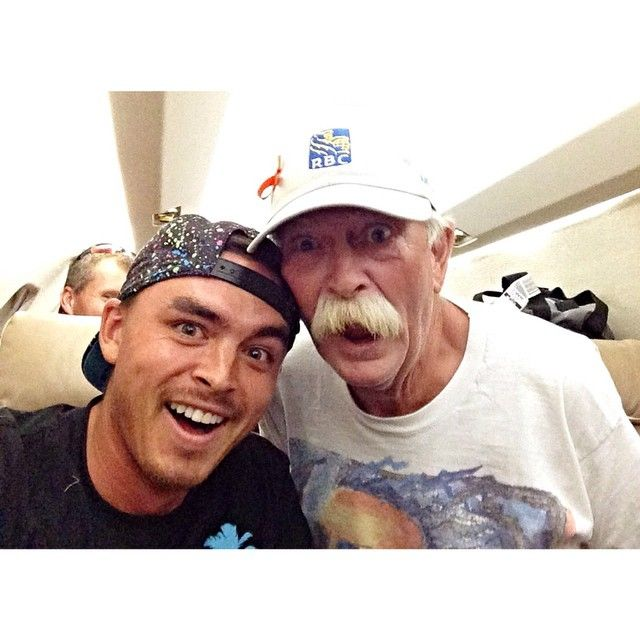 The Man, The Myth, The True Living LEGEND  Fluff  and Rickie Fowler.
