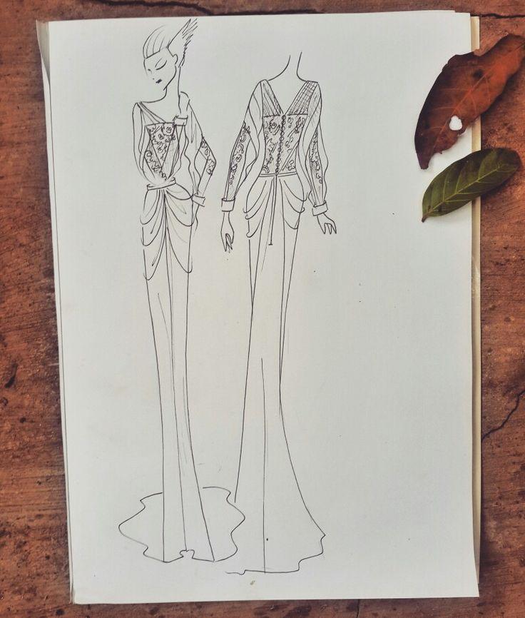 Sketch to Ms. Rafiah, Boho bridal www.braidsandco.com Ig: @braids.co