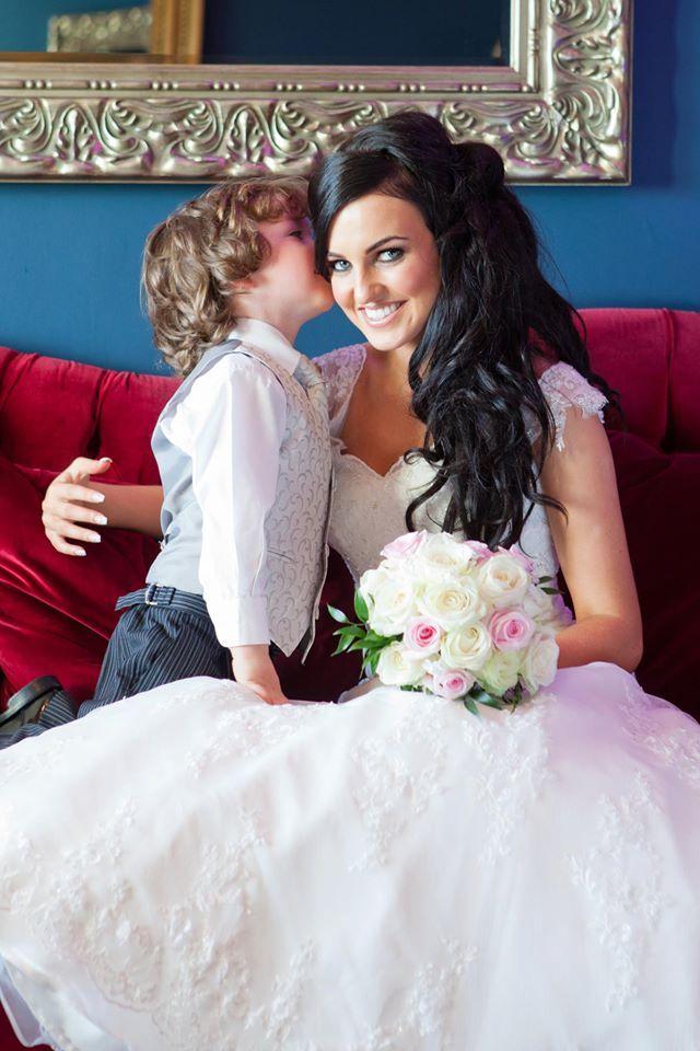 Cute moment between bride & son