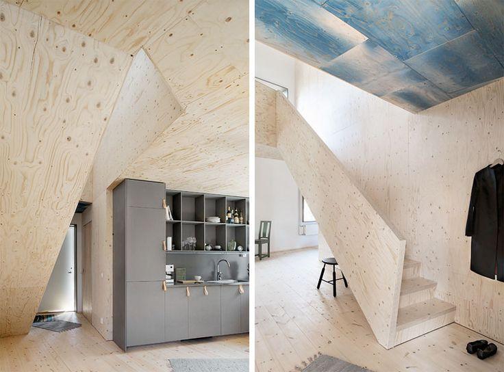 Woonguide-lijnenspel-muren-plafonds_3 - houten wanden  Pinterest