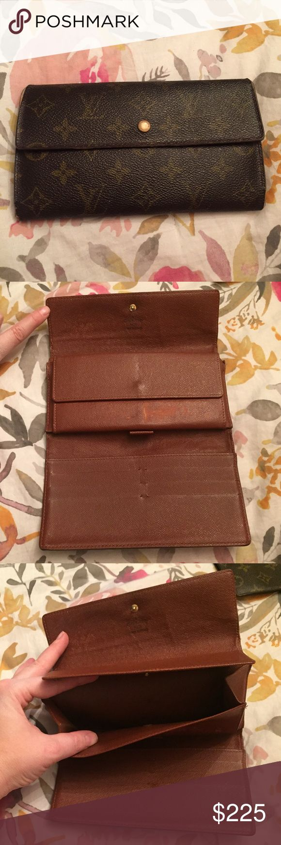 💯 auth Louis Vuitton monogram long snap wallet Lovely wallet that's great for staying organized. Guaranteed authentic! Lots of life left, with signs of wear overall as shown, but this doesn't effect use. See photos- great piece at a great price! Louis Vuitton Bags Wallets