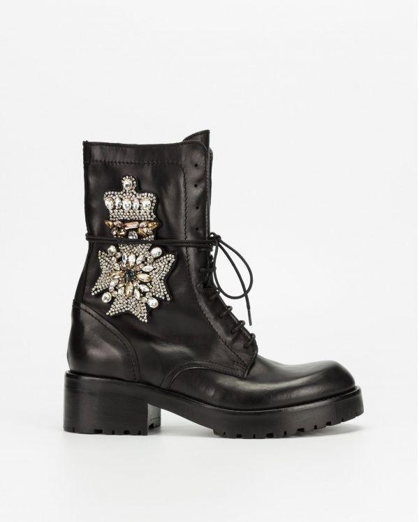 PROF Shoes Strategia shoes black combat boots