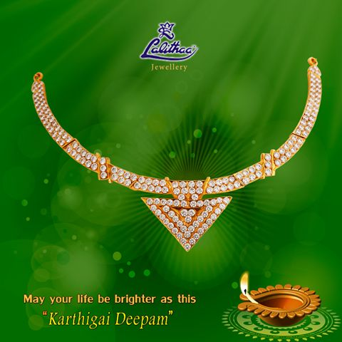 "LALITHAA_JEWELLERY Celebrate this ""Karthigai Deepam"" including this rich crafted necklace to your jewel box. #lalithaajewellery.   Gold Getti Bangles In Chennai Buy Getti Bangles Online Buy Getti Bangles For Women Getti  Earrings Collections Getti Earrings Designs Indian Getti Earrings Getti Earrings in Chennai Buy Getti Earrings Online"
