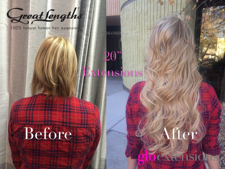 Great Lengths Hair Extensions Before and After by Glo Extensions Denver