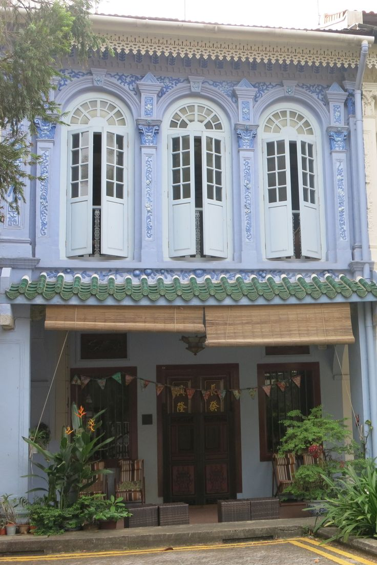 colonial architecture in Singapore, in the Emerald Hill neighborhood
