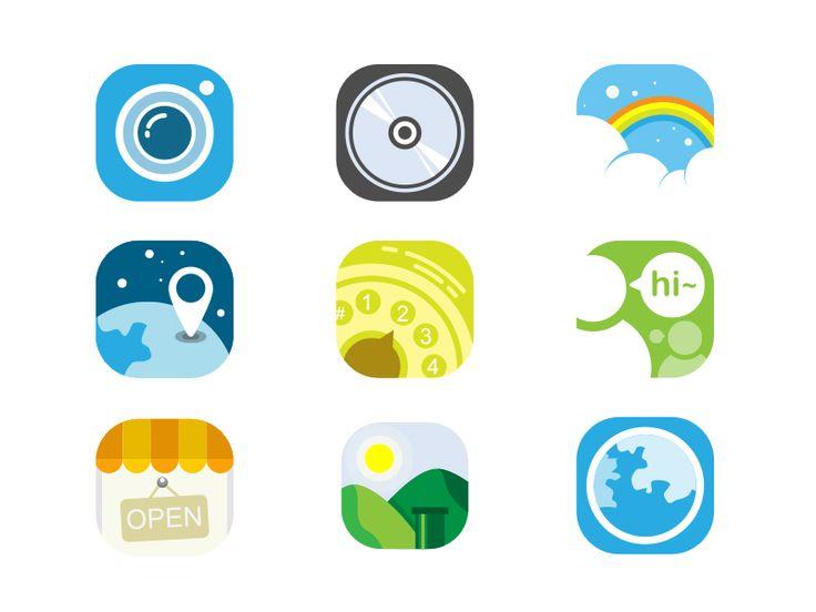 Flat Icons / Flat Design / Icons / Pictograms / Symbols / 截图 / flat deign / #flat #icons