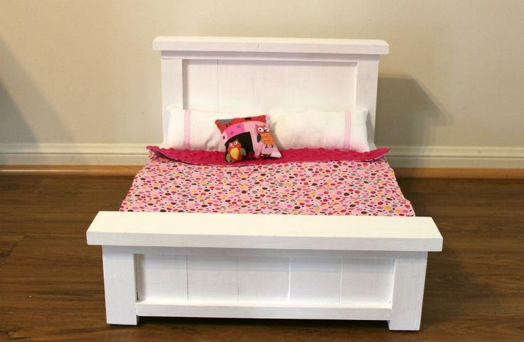 Farmhouse style dolls bed