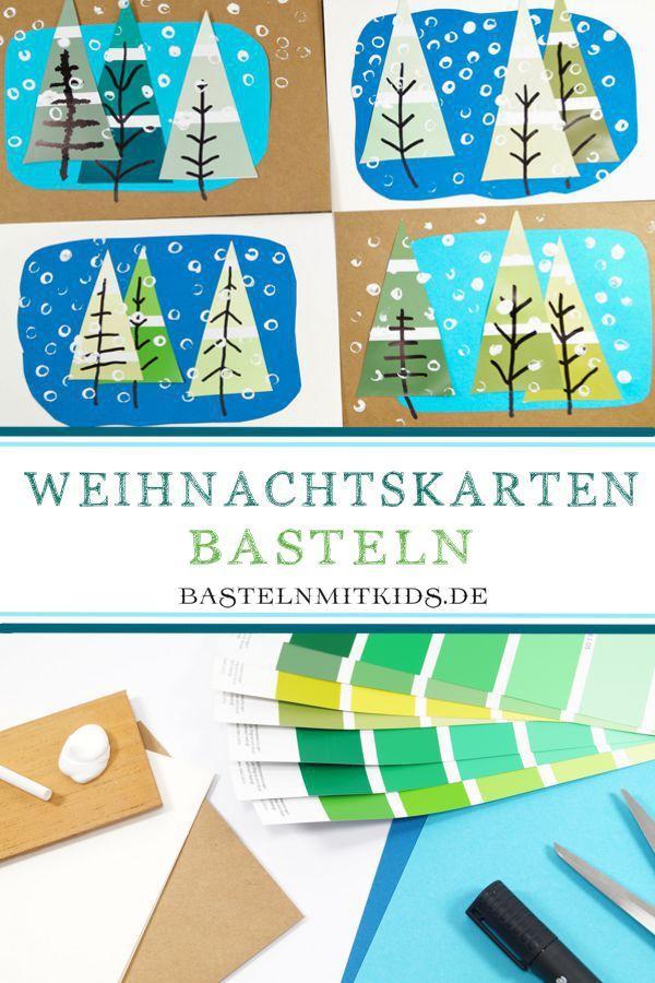 E Weihnachtskarten.Weihnachtskarten Basteln Mit Tannenbäumen Crafts Christmas