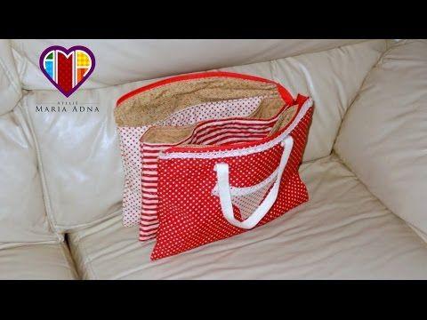 Bolsa necessaire de tecido Laureen - Maria Adna Ateliê - Cursos e aulas de bolsas de tecido - YouTube
